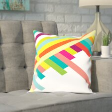 Eaves Spring Geometry Poster Outdoor Throw Pillow