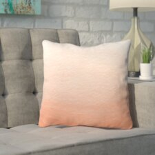 Homer Peach Ombre Outdoor Throw Pillow