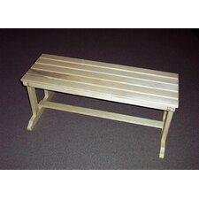 Backless Wood Picnic Bench