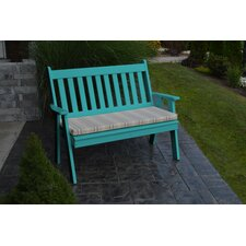Traditional English Plastic Garden Bench