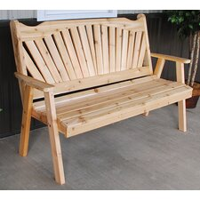 Wonderful Fanback Wood Garden Bench