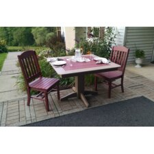 3 Piece Poly Dining Set
