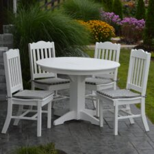 2017 Online 5 Piece Poly Dining Set