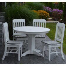 5 Piece Poly Dining Set
