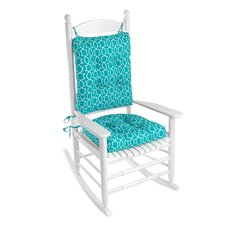 Outdoor 2 Piece Porch Rocking Chair Cushion Set