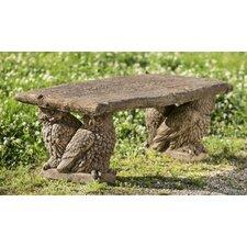 Owl Cast Stone Garden Bench