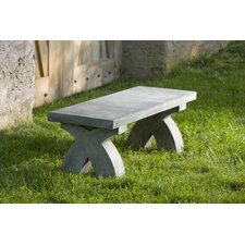 The X Cast Stone Garden Bench