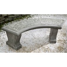 Curved Leaf Cast Stone Garden Bench