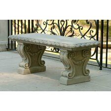 Longwood Cast Stone Garden Bench