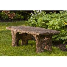 Faux Bois Cast Stone Garden Bench