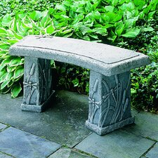 Dragonfly Curved Cast Stone Garden Bench