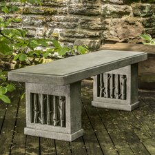 Birches Cast Stone Garden Bench