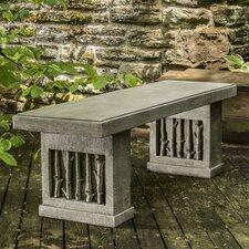 Amazing Birches Cast Stone Garden Bench
