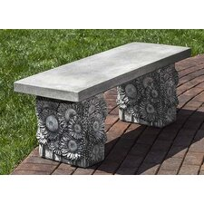 Sunflower Cast Stone Garden Bench