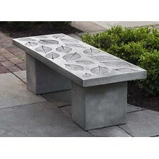 Cheap Hydrangea Leaf Stone Garden Bench