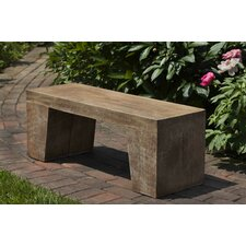 Barn Board Cast Stone Garden Bench