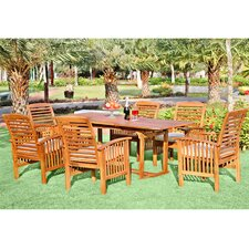 Ascencio 7 Piece Dining Set with Cushion