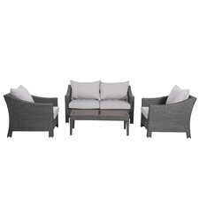 Aqueduct 4 Piece Deep Seating Group with Cushion