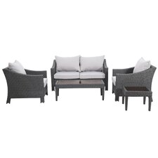 Aqueduct 5 Piece Deep Seating Group with Cushions