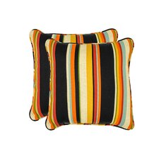 Monroeville Stripe Outdoor Throw Pillow (Set of 2)