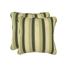 Mully Stripe Toss Outdoor Throw Pillow (Set of 2)