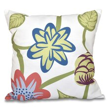 Comparison Engine House Tropical Floral Outdoor Throw Pillow