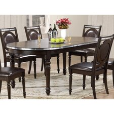 9 piece dining set with leaf image