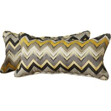 No Copoun Broad Brook Chevron Indoor/Outdoor Lumbar Pillow Set