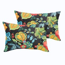 Read Reviews Gilson Floral Indoor/Outdoor Lumbar Pillow (Set of 2)