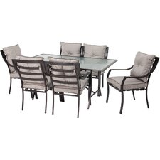 Afton 7 Piece Dining Set with Cushions