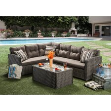Ursula 3 Piece Deep Seating Group with Cushion