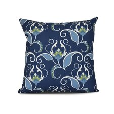 Selina West Indies Floral Print Outdoor Throw Pillow