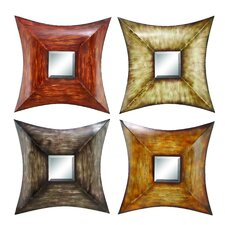 4 Piece Wood Mirror Wall Decor Set (Set of 4)