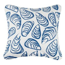 Indigo Coast Shells Outdoor Cotton Throw Pillow