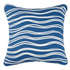 Indigo Coast Water Outdoor Cotton Throw Pillow