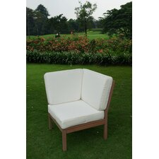 Discount Willow Corner Lounge Chair with Cushion