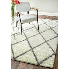 Teppich in Grau/Weiß