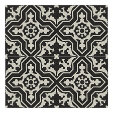 "Temara 8"" x 8"" Cement Subway Tile in Black/White"