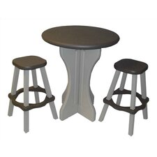 Patio 3 Piece Pub Table with Stools