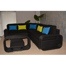 Riviera Large 5 Piece Sectional Seating Group with Cushions