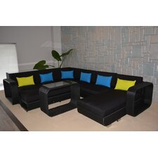 Riviera Deluxe 5 Piece Sectional Seating Group with Cushions