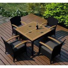 Arbor 5 Piece Dining Set with Cushion