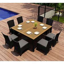 Arbor 9 Piece Dining Set with Cushion