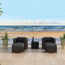 Urbana 5 Piece Deep Seating Group with Cushion