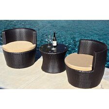 Pineapple 3 Piece Deep Seating Group with Cushion