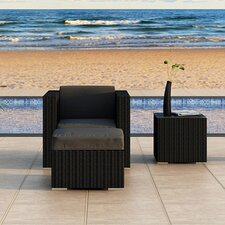 Urbana 3 Piece Deep Seating Group with Cushion