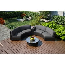 Arden 4 Piece Curved Seating Group with Cushions
