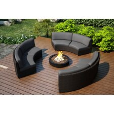 Arden 3 Piece Curved Deep Seating Group with Cushions