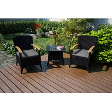 Arbor 3 Piece Chat Set with Cushions