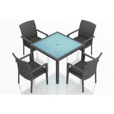 District 5 Piece Dining Set with Cushions